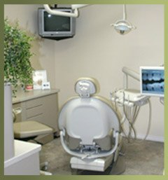 Comfortable dental patient exam room